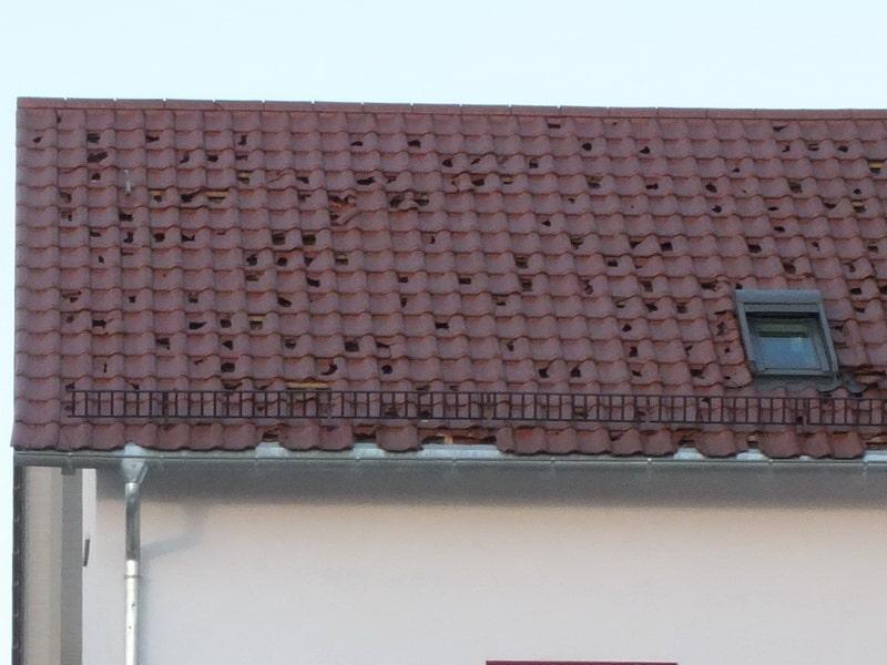 Hagel Sachverständiger Dach Hagelschaden eigener Gutachter