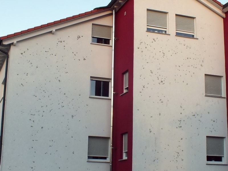 Hagelschaden Fassade