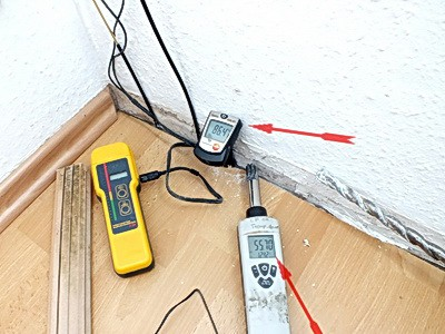 Feuchtemessung Wand & Feuchtigkeitsmessung Fußboden