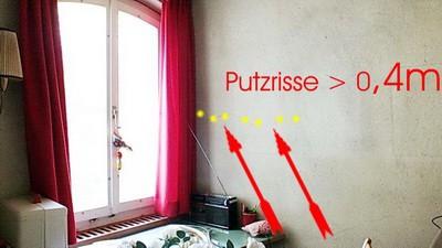 Risse im Putz, im Mauerwerk Beweissicherung der umgebenden Bausubstanz und der natürlichen Gegebenheiten vor Baubeginn