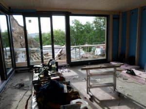 Schimmel Balkon, Aufstandselement