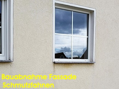 Endabnahme Haus Bau-Abnahme München TÜV Dekra Endabnahme Schlüsselübergabe Bauübergabe Bauabnahme Fassade mit Schmutzfahnen