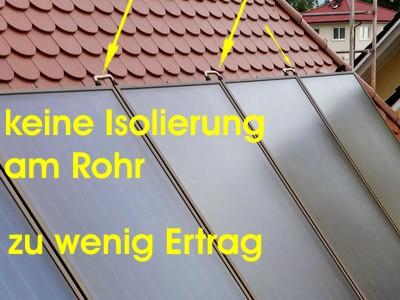 Bauabnahme keine Isolierung am Rohr Endabnahme Haus Bau-Abnahme München TÜV Dekra Endabnahme Schlüsselübergabe Bauübergabe Vorabnahme
