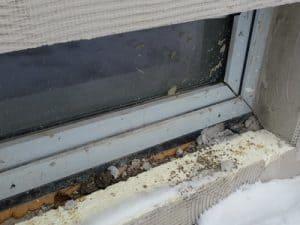 Aufstandselement , balkon schimmel Balkontür Hauseingangstür undicht bodentiefe Fenster Abdichtung fehlt