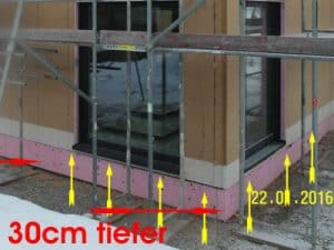 Baubegleitung Fertighaus - Baubegleiter Fertigteilhaus Abdichtung Bodenschwelle Fertighaus