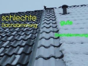 Schneebild Dachdämmung Kontrolle zur Schlüsselübergabe