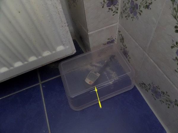 Feuchtemessung Fußboden in der BOX